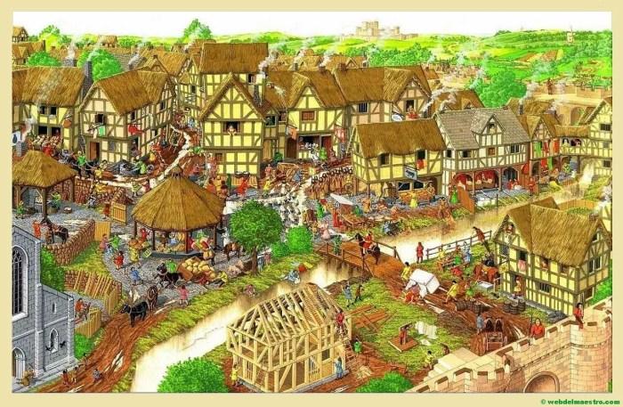 ciudad epoca medieval