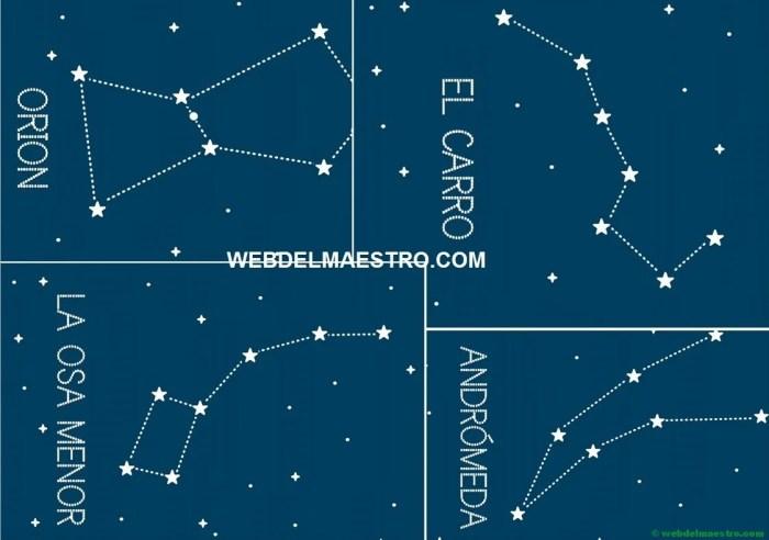 las constelaciones en color