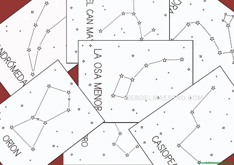 las constelaciones para colorear - Web del maestro