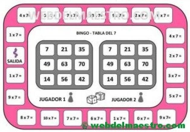 juego de la tabla del 7