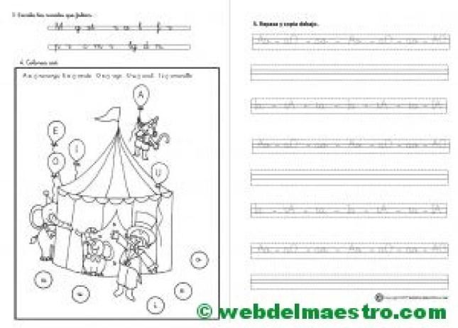 Actividades de lectoescritura-Las vocales-Letra cursiva-