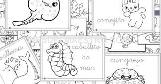 Dibujos para colorear fáciles - dibujos infantiles