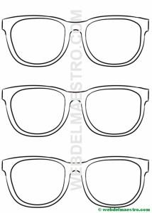 Plantilla de las gafas