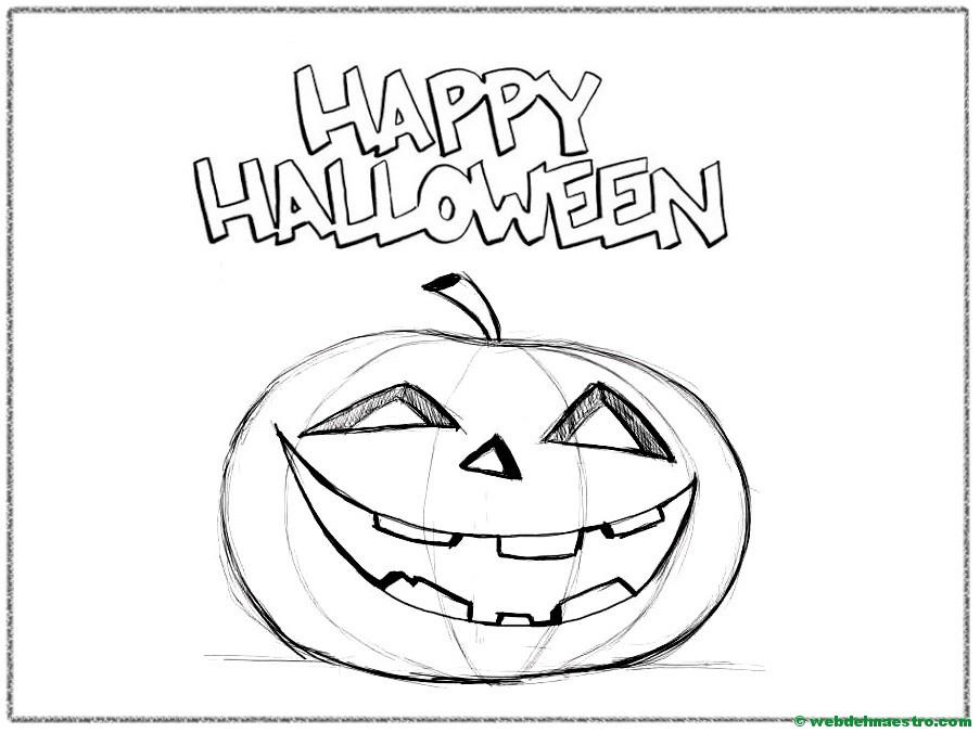 Calabaza de Halloween-2- Web del maestro