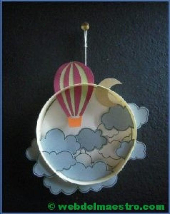 Diorama para niños-el cielo