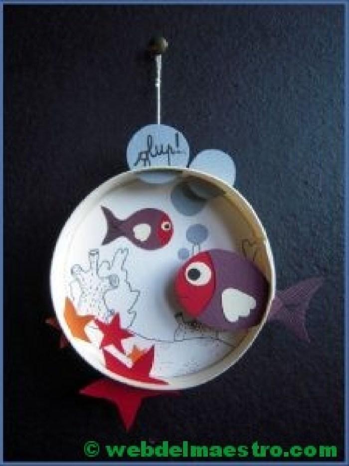 Diorama para niños-el fondo del mar