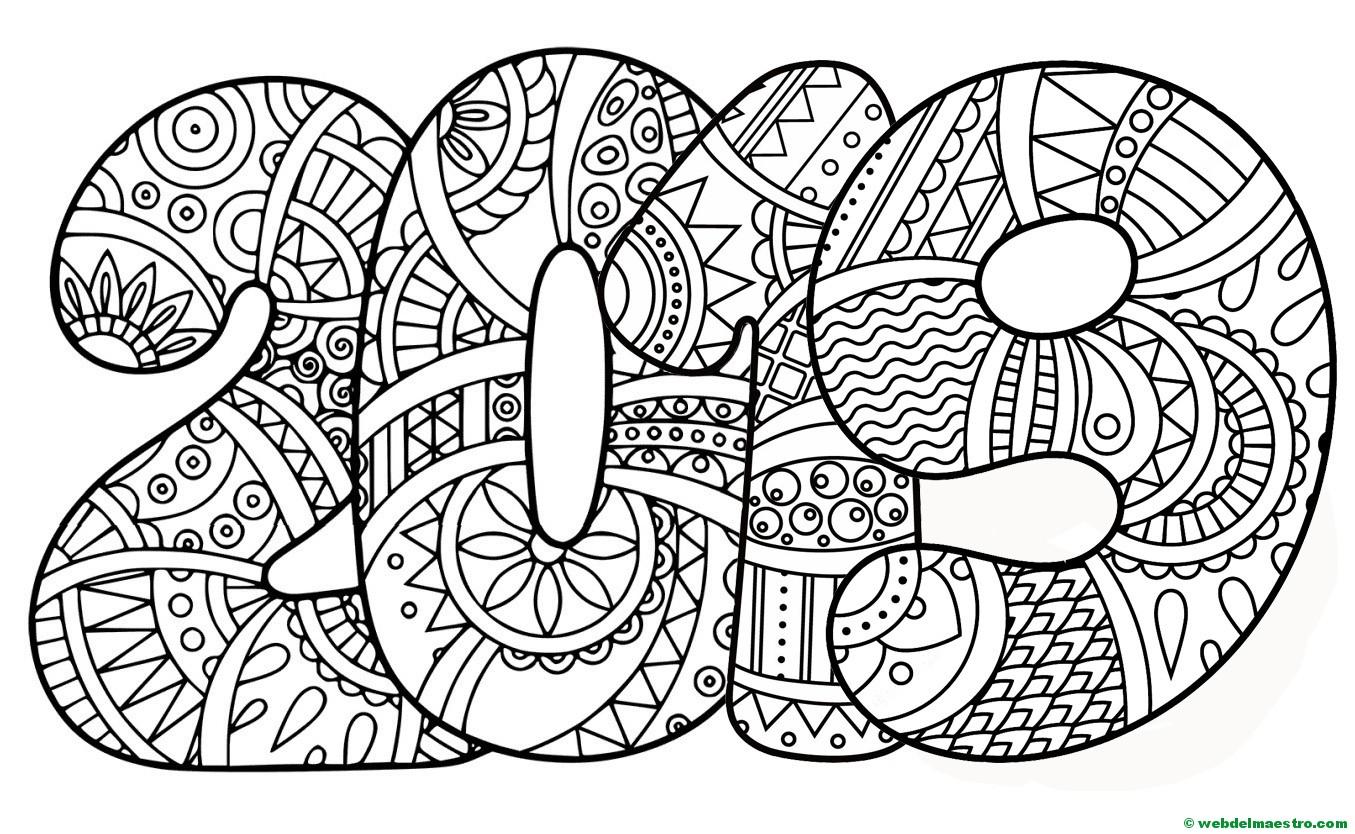 Niños Para Colorear E Imprimir: Dibujos De 2019 - Web Del Maestro
