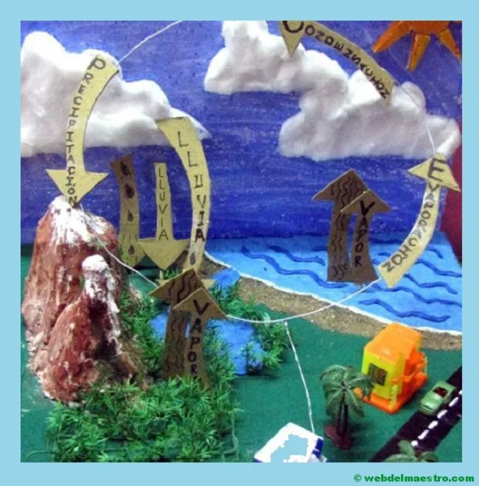 Diorama del ciclo del agua