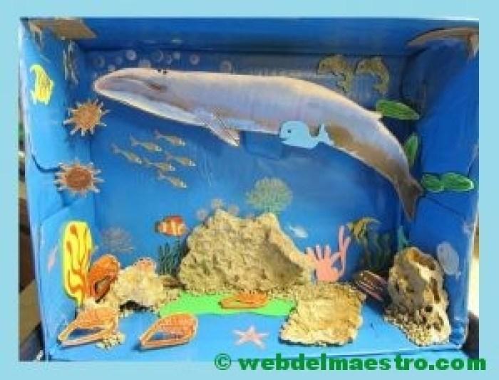 Diorama del oceano-