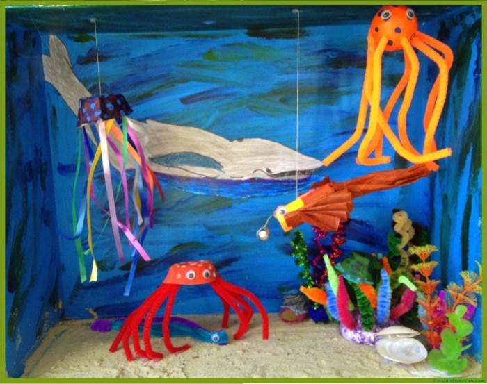 Diorama del oceano--