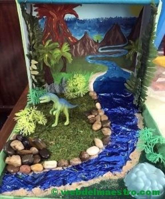 Diorama sobre la Prehistoria
