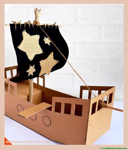 barco de cartón-II