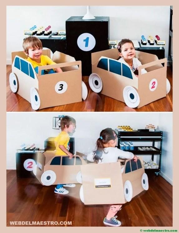 cajas de carton- automovil