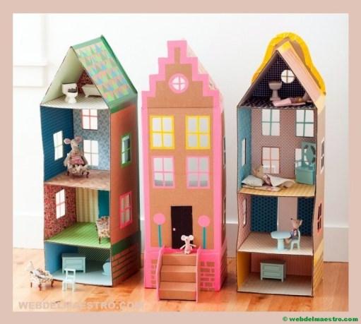 como hacer una casa de carton-variantes