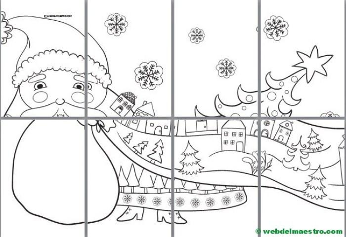 Papá Noel Para Pintar Póster Gigante Web Del Maestro
