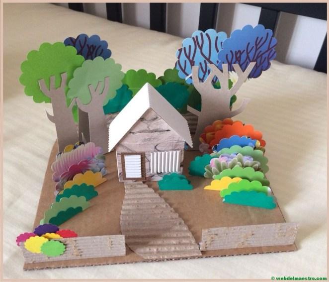 diorama de una vivienda-