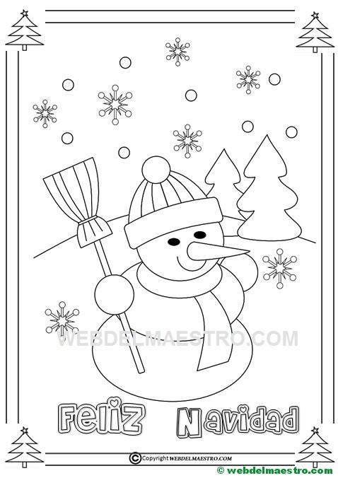 Muñeco De Nieve Para Colorear Web Del Maestro