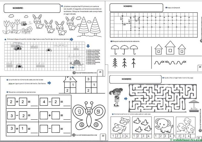 Fichas Infantil 5 Años Para Imprimir Web Del Maestro