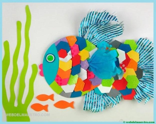 Collage con materiales reciclados