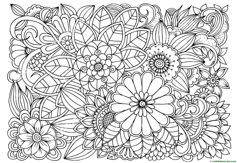Flores De Dibujos Colorear Dibujos