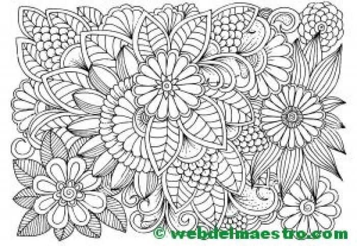 Dibujo de flores para colorear 3
