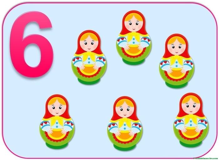 Cartel del número 6
