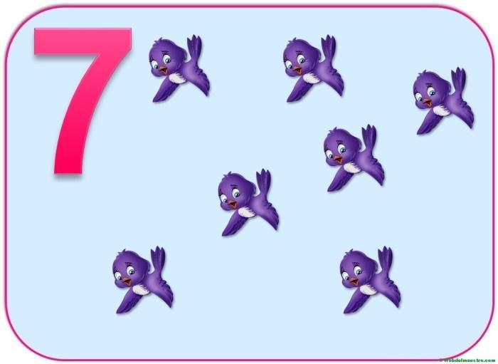 Cartel del número 7