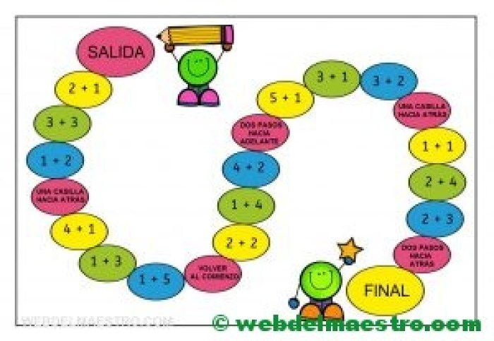 Juegos de matematicas en color