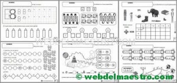 Matemáticas Infantil - Actividades para descargar - Serie 8-