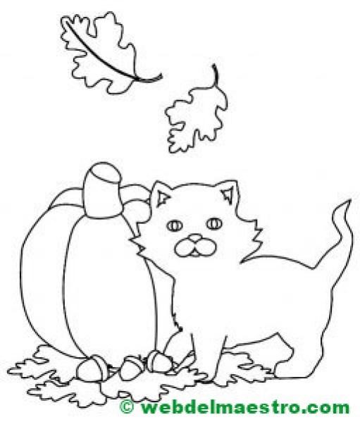 dibujo otoño infantil-
