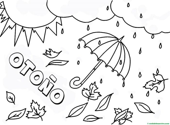 dibujo otoño infantil