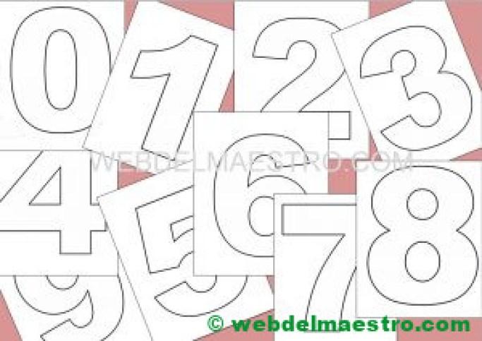 numeros para imprimir- tamaño mediano
