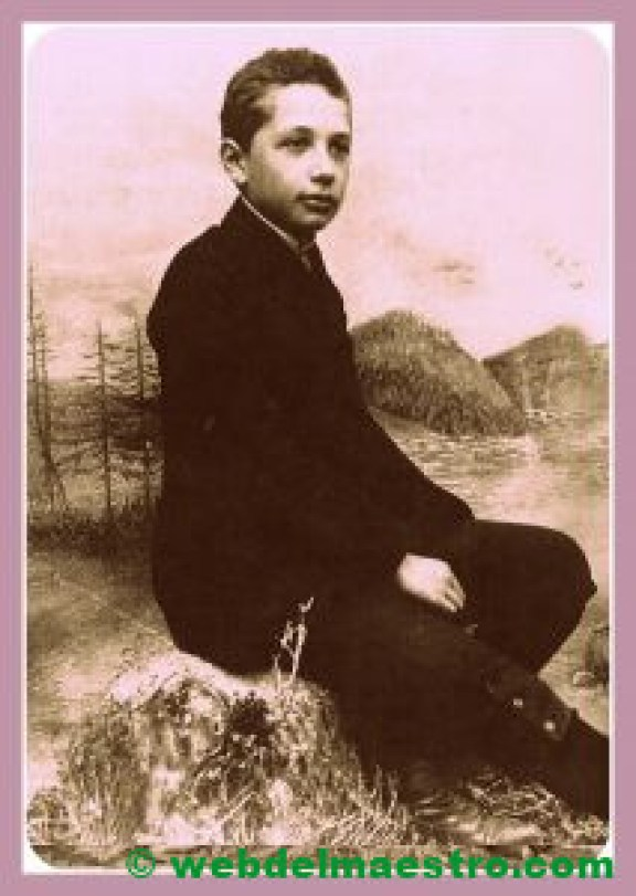 Albert Einstein en edad escolar