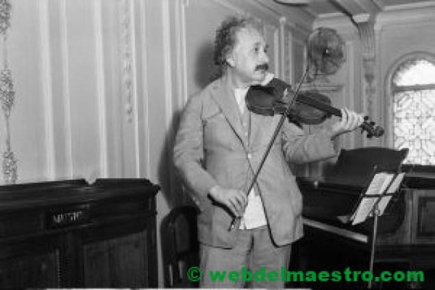 Albert Einstein en su faceta de músico