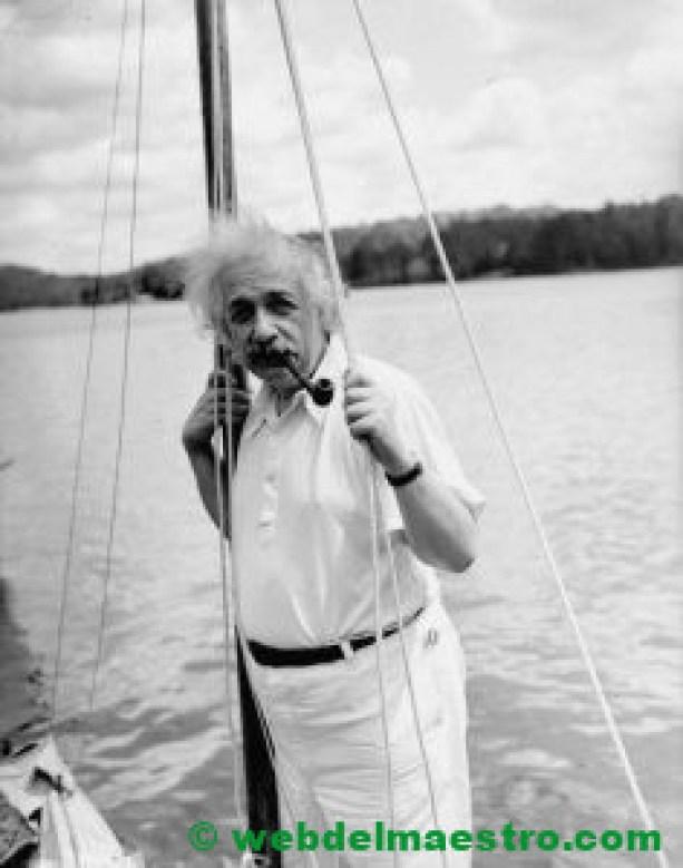 Einstein apasionado de la navegación