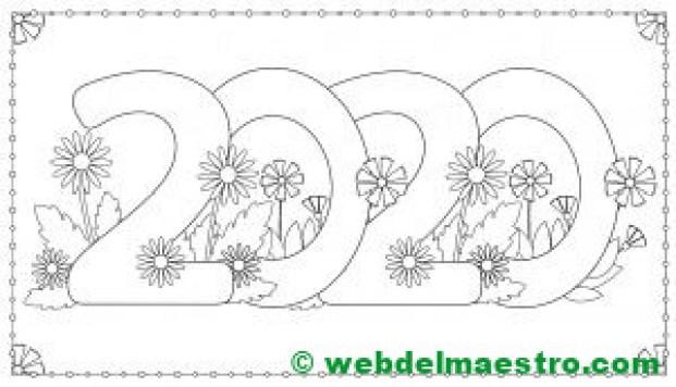 4. Colorear 2020 DIBUJO