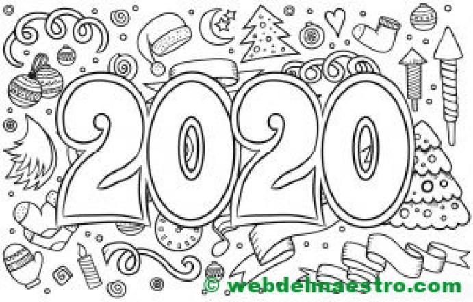 9. COLOREAR DIBUJO 2020