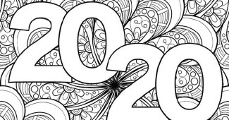 Dibujo para colorear-Dibujo de de 2020