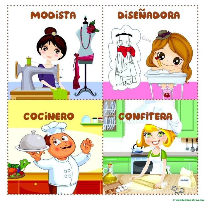 modista-diseñadora-cocinero-confitera
