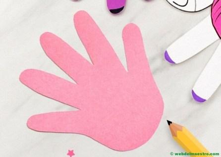 silueta de la mano