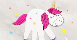 unicornio de papel