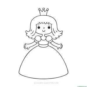 princesa-dibujo para pegar gomets - Web del maestro