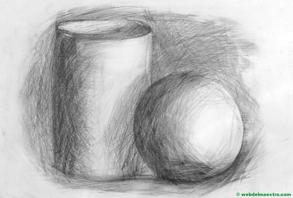Dibujo a lápiz sin difuminar