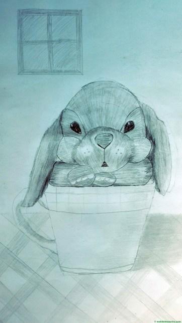 Dibujo de perrito realizado a lápiz