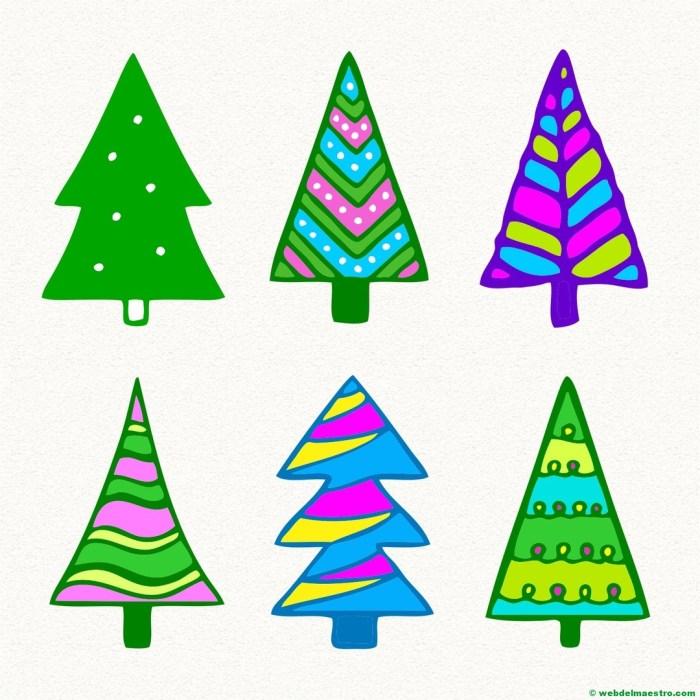 Modelos para dibujar árbol de Navidad-9