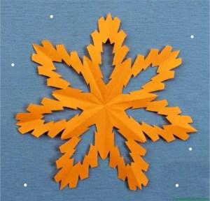 Copo de nieve de color-1 terminación del trabajo