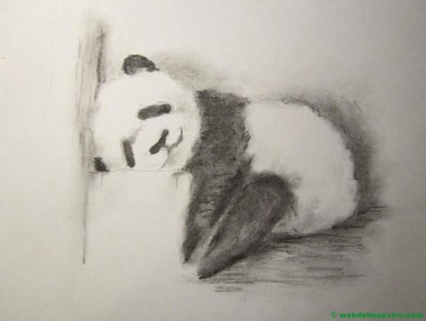 Dibujo a lápiz de oso panda