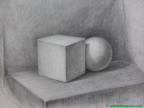 dibujo a lápiz de figuras geométricas