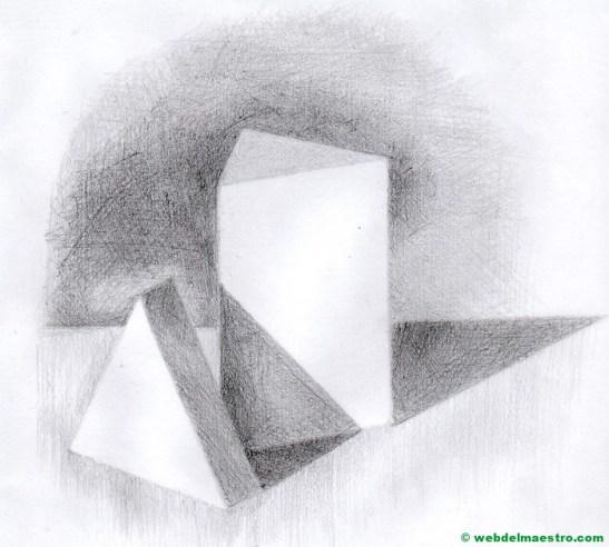dibujo a lápiz fácil con doble sombra