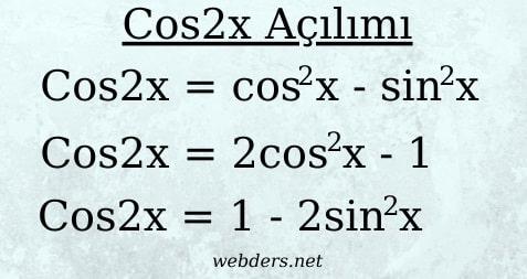 cos2x açılımı